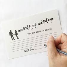 words of wisdom cards wedding advice cards for the happy the paper angel