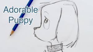 how to draw a super cute puppy step by step youtube