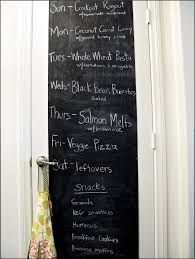 Chalkboard Ideas For Kitchen Chalkboard Tone Single Door Pantry Decorated With Printed Pattern