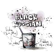 cocktail clipart black and white hand drawn illustration of cocktail black russian vector
