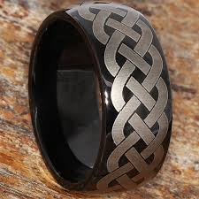 celtic rings octavian unique black rope celtic rings forever metals