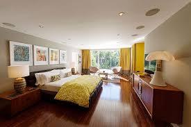 Mid Century Modern Bedroom Set Mid Century Modern Bedroom Set White Shade Brown Laminated Wooden