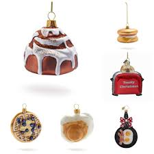christmas tree ornaments for food travelers