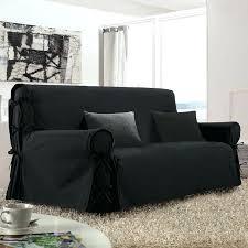 recouvre canapé housse de canape noir 3 places avec accoudoir bois et t one co