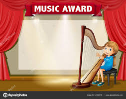 certificate template for music award u2014 stock vector