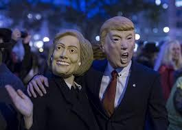 Donald Trump Halloween Costume Trump Vs Clinton Can Halloween Mask Sales Predict The Election