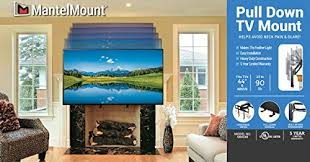 mantelmount mm340 pull down fireplace tv mount for 44