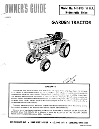 mtd lawn mower 141 990 user guide manualsonline com
