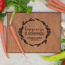 cutting board personalized personalized family cutting board happiness is