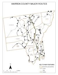 County Map Of Ny Warren County Roads Map