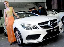 mercedes showroom luxury cars at the starting line the myanmar times
