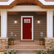 cozy red exterior doors 147 red fiberglass entry door elegant red