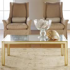 gold metallic coffee table accent tables living room modern