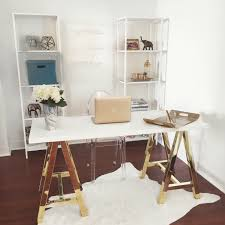 home office with tv white and gold offices an sophisticated and inspirational
