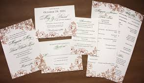 wedding invitation packages persimmon and green fall floral wedding stationery white papers
