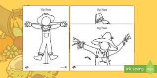scarecrow themed blank faces template activity