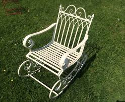 Garden Rocking Bench Scrolled Metal Rocking Chair Garden Sculptures Ornaments