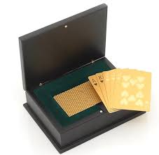 Rose Dipped In Gold 24 Karat Gold Dipped Poker Cards Stunning And Unique