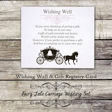 wedding wishes gift registry fairy tale carriage personalized wedding wishing well gift