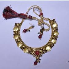 red stones gold necklace images Pendant set antique high gold pendant set manufacturer from mumbai jpg