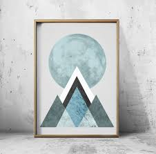 Decoration Geometric Wall Decals Home by Posters Wall Art Poster Moon Print Moon Art Geometric Decor