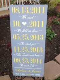 personalized bridal shower gifts personalized our story wedding sign important dates