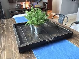 noah extra large wood ottoman tray square pallet ottoman