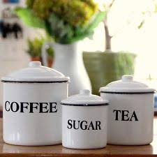 vintage style kitchen canisters vintage style enamel canister set country farm kitchen
