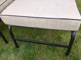 set of 2 beige luxury garden sun lounger chair with deep padded