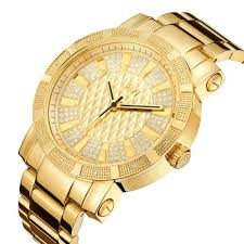 golden ferrari with diamonds real diamond 0 12 ctw 18k gold plated stainless steel men u0027s