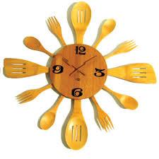 horloge cuisine originale horloge couvert bambou horloge cuisine originale pendule de