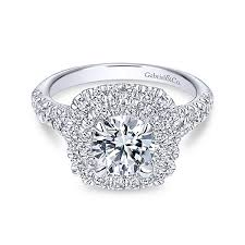 gabriel and co engagement rings halo engagement rings gabriel co