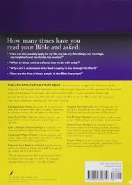 spirit of halloween job application amazon com life application study bible nkjv 0031809040355