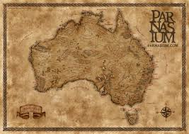 Fantasy Maps Fantasy Styled Map Of Australia Inspired By Maps Of Tolkien U0027s
