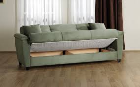 Sleeper Sofa With Storage Microfiber Fabric Living Room Storage Sleeper Sofa