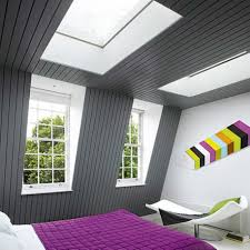 bedroom grey attic bedroom idea with glass sunroom in ceiling