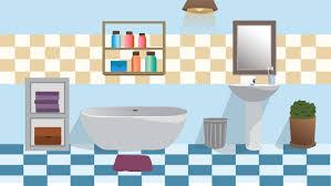 halloween menu moving background bathroom illustration shower scene scenedesign graphic