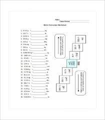 19 metric conversion chart templates free word pdf format