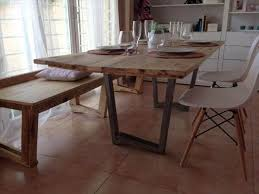 built pallet industrial dining table