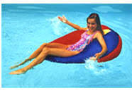 sunsoaker floating bean bag chair ultima party blue drop n flop