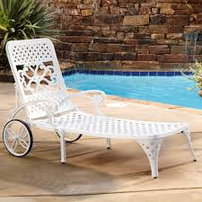 Chaise Lounge With Wheels Outdoor Styles Biscayne Outdoor Chaise Lounge Chair With Wheels