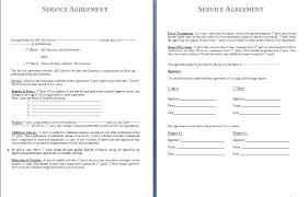 4 service agreement contract templatereport template document