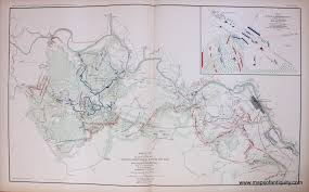 Virginia Rivers Map by Antique Maps And Charts U2013 Original Vintage Rare Historical
