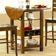 table with wine rack underneath bar bronze oak finish dining home