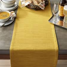 crate and barrel table runner grasscloth 90 mustard table runner master bed pinterest