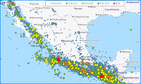 Map Of Mexico Coast by List Of Earthquakes In Mexico Wikipedia
