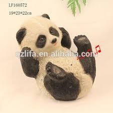 resin craft sensor panda garden statues buy resin panda garden