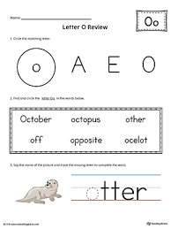 say and trace short letter o beginning sound words worksheet