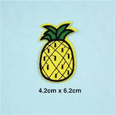 PF Fine Stripe Fruit Patch Pineapple Embroidery Patch for Clothing