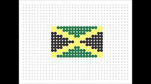 Colors Of Jamaican Flag Hama Bead Jamaican Flag Flag Series 2 8 Youtube